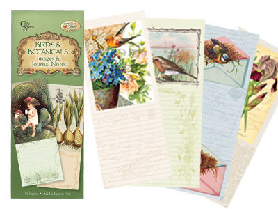 Crafty Secrets Vintage Image & Journal Notes - Birds & Botanical