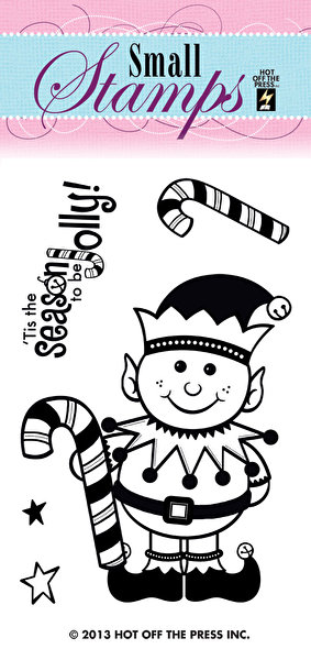 *NEW Hot Off The Press Small Stamps - Happy Elf