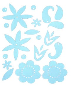Heidi Swapp Ghost Shapes - Gel Flower Blossoms - Clear 20/pkg.