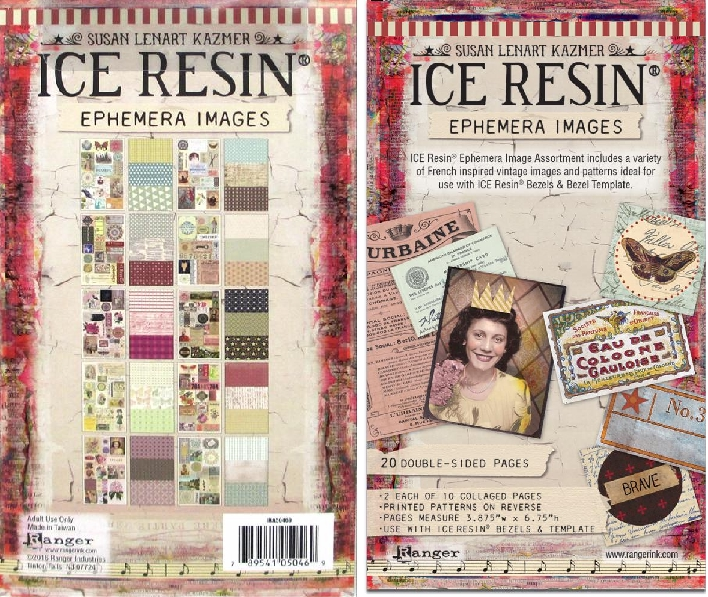 *NEW Ranger ICE Resin Ephemera Image Assortment