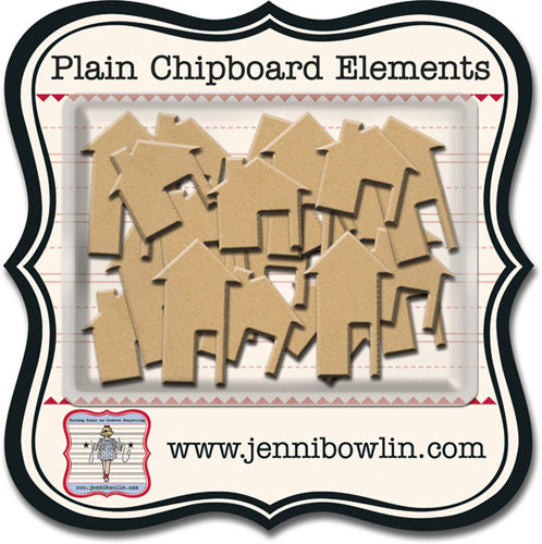 Jenni Bowlin Naked Plain Chipboard Shapes - Home Houses