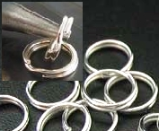 1/4 Inch Jump Rings - 40 Sterling Silver Split Jump Rings