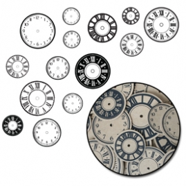 Maya Road Time Flies Kraft Paper Clock Shapes