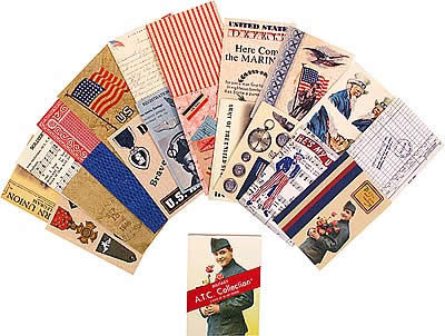 Leisure Arts Artist Trading Card Collection Military & USA