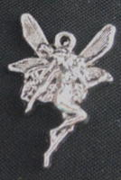Fairy - Dragonfly Silver Mini Fairy Charm