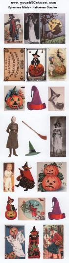 yourATCstore Ephemera Minis - Halloween Goodies