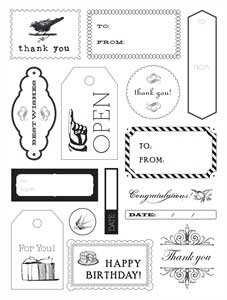 Making Memories Card & Tag Making Clear Stamp Set - 15 Stamps