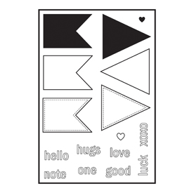 Maya Road Tiny Banner Acrylic Stamp Set