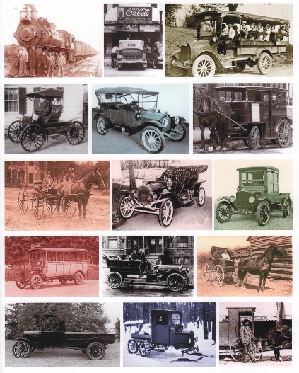 yourATCstore Oldtime Transportation Collage Sheet