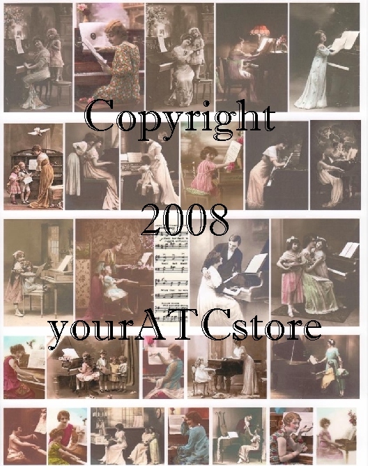 yourATCstore Let's Play Piano Collage Sheet