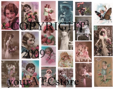 yourATCstore Precious Flowers Collage Sheet