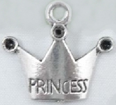 Crown - Princess Charm - Silver