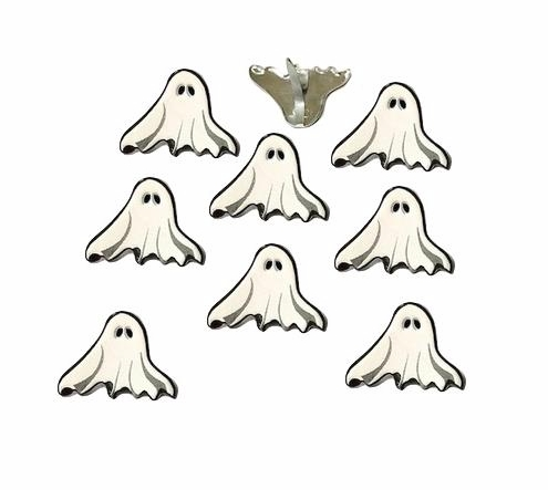 Eyelet Outlet White Ghost Brads - 12/package