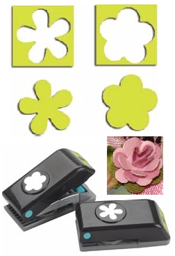 EK SUCCESS Paper Shapers Mini Punch Set Flower & Retro Flower