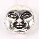 Art Doll - Head/Face Bead - Small Silver Round