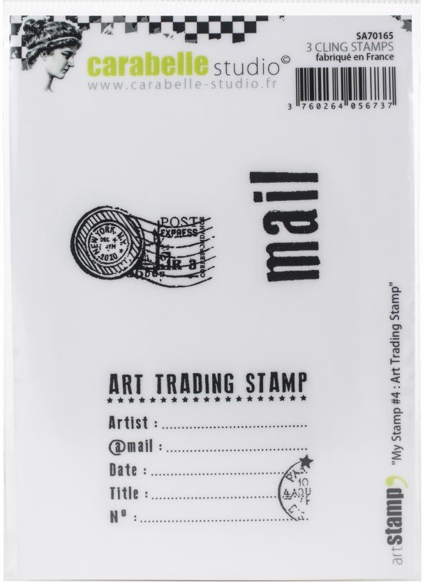 *NEW Carabelle Studio Art Stamps - My Stamp Art Trading Stamp
