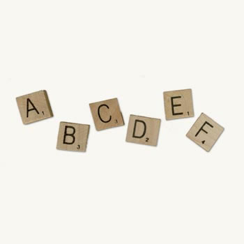 Scrabble Letters (8) - Authentic Vintage Wooden