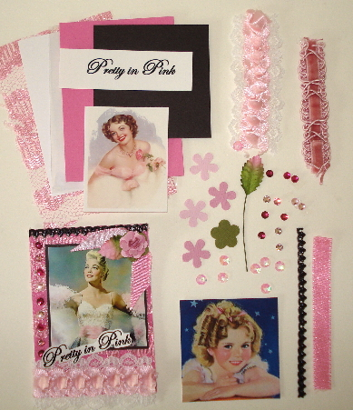 Artist Trading Card Kit of the Month - Sept. 2012 Pretty in Pink