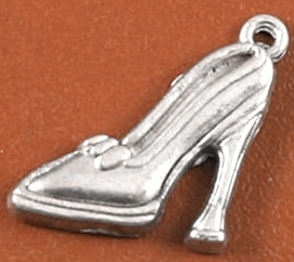 Art Doll - Shoe Silver High Heel Shoe Charm