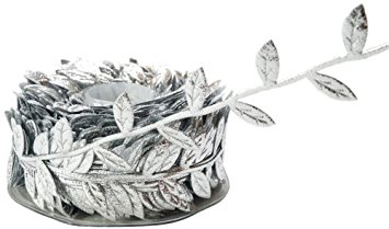 May Arts Leaf Vine Ribbon - Silver