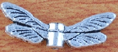 Dragonfly Wing Bead Charm - Silver 2-sided