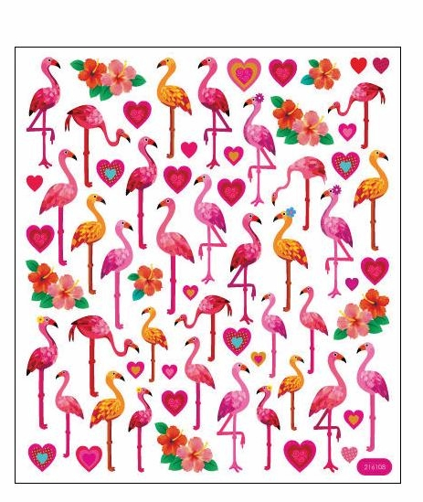Sticker King Multicolored Stickers - Pink Flamingos