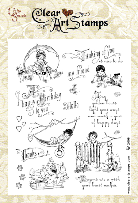 Crafty Secrets Clear Art Stamps - Sweet Kids