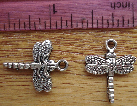 Dragonfly Charm - Silver