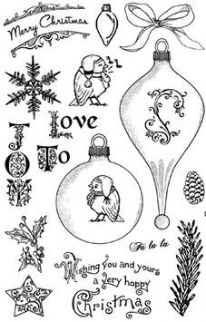 Crafty Secrets Clear Stamp Set - Christmas Joys