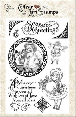 Crafty Secrets Clear Stamp Set - Seasons Greetings