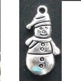 Christmas/Winter Snowman Charm - Silver