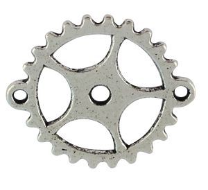 Gear Sprocket Charm - Silver Great for Steampunk ATCs