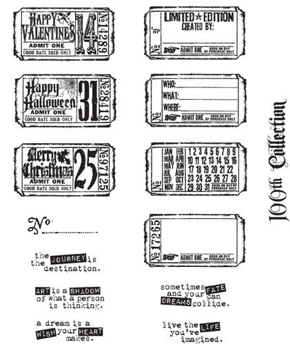 Stampers Anonymous' Tim Holtz Odds & Ends Stamp Set