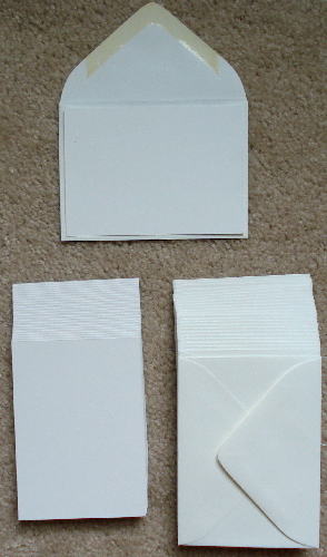 15 - Blank White ATC Cards with 15 White Envelopes