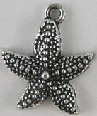 From the Ocean - Starfish Charm - Silver