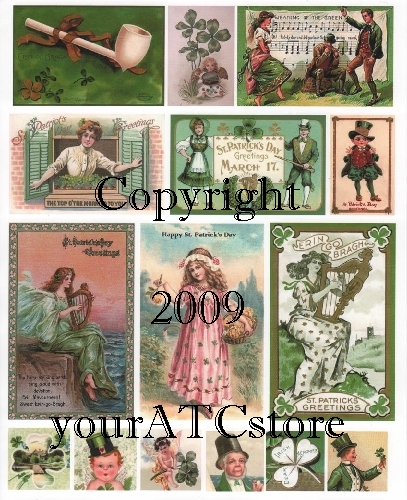 yourATCstore St. Patrick's Day Greetings Collage Sheet