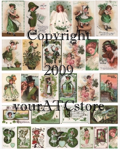 yourATCstore St. Patrick's Day ATC Collage Sheet