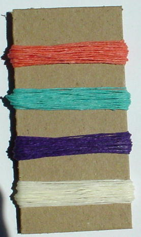 Irish Waxed Linen Book Binding Thread - Summer Combo Asst.