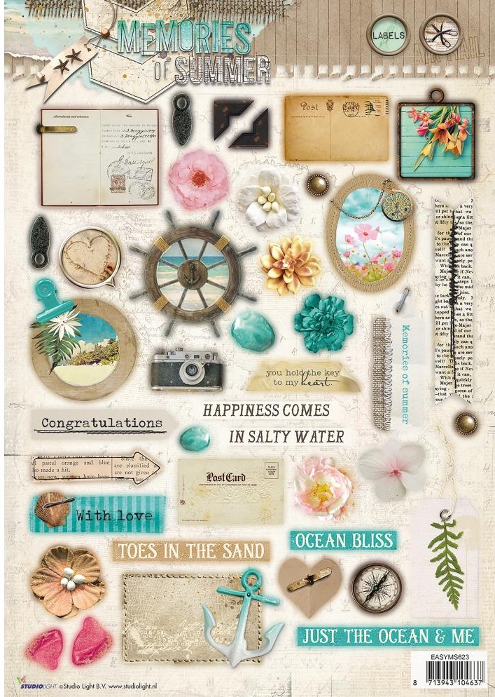 *NEW Studio Light Punched Sheet - #623 Memories Of Summer