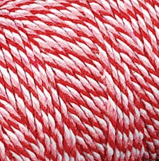 Baker's Twine Cording Red, Pink & White Striped - 5 yds.