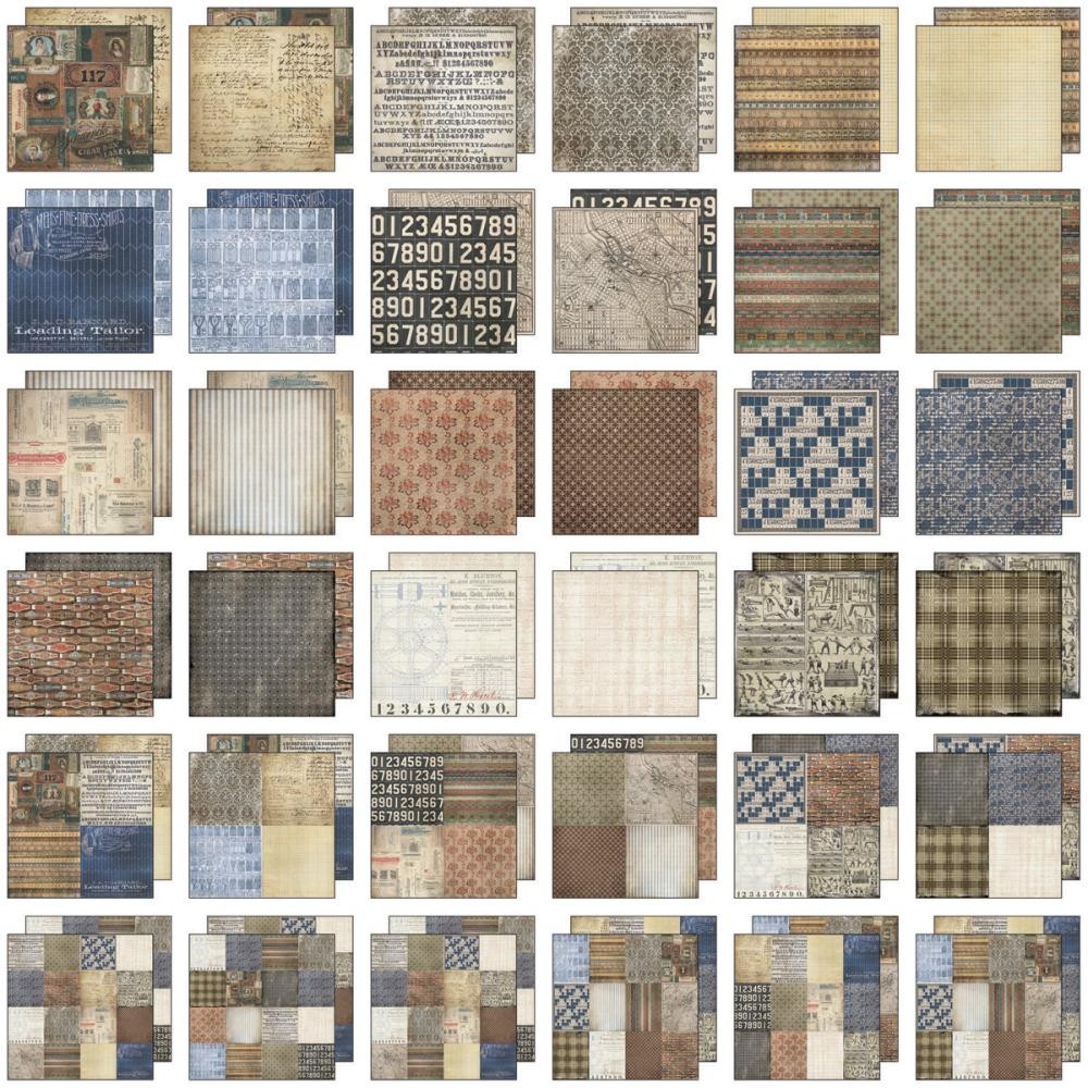*NEW Tim Holtz Idea-ology Paper Stash - 12 x 12 Dapper