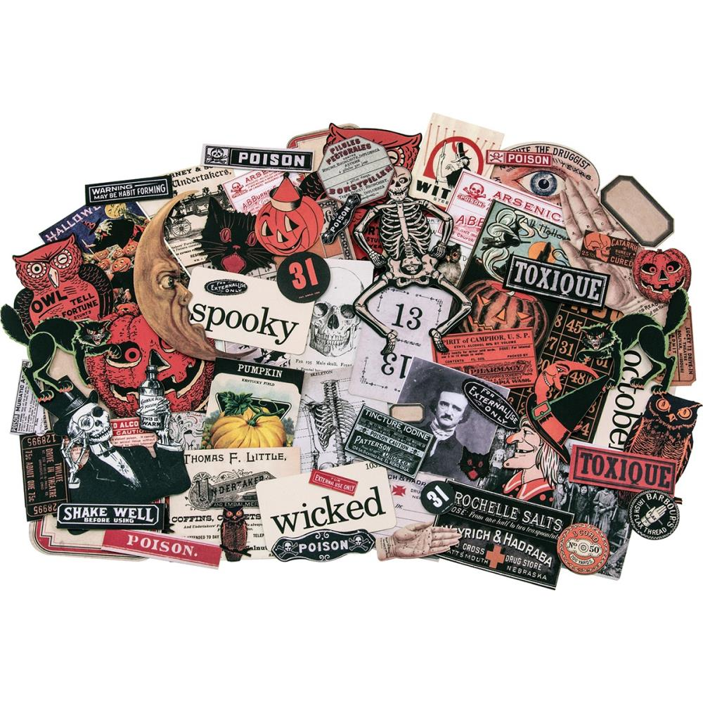 Tim Holtz Idea-ology Halloween Ephemera 109 Pcs.