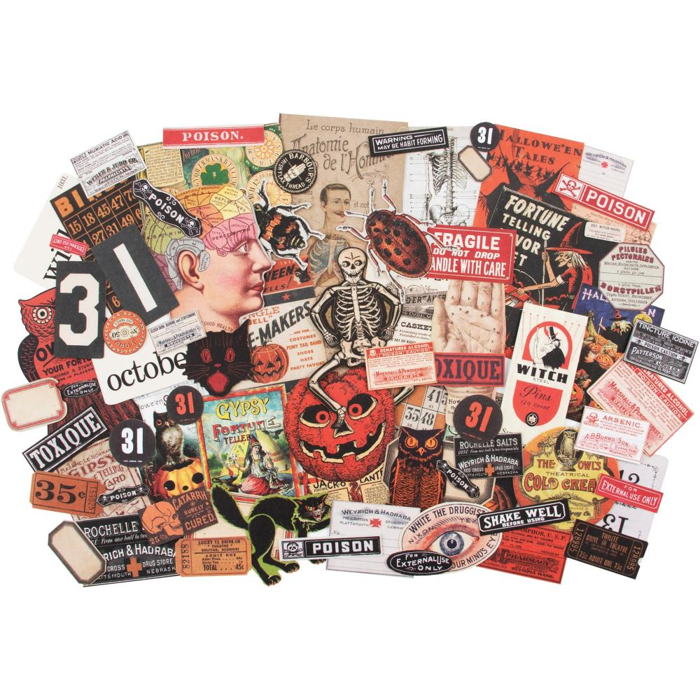 Tim Holtz Idea-ology Halloween Ephemera 82 Pcs.
