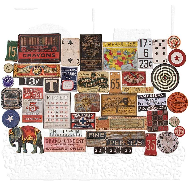 *NEW Tim Holtz Idea-ology Chipboard Baseboards - Junk Drawer