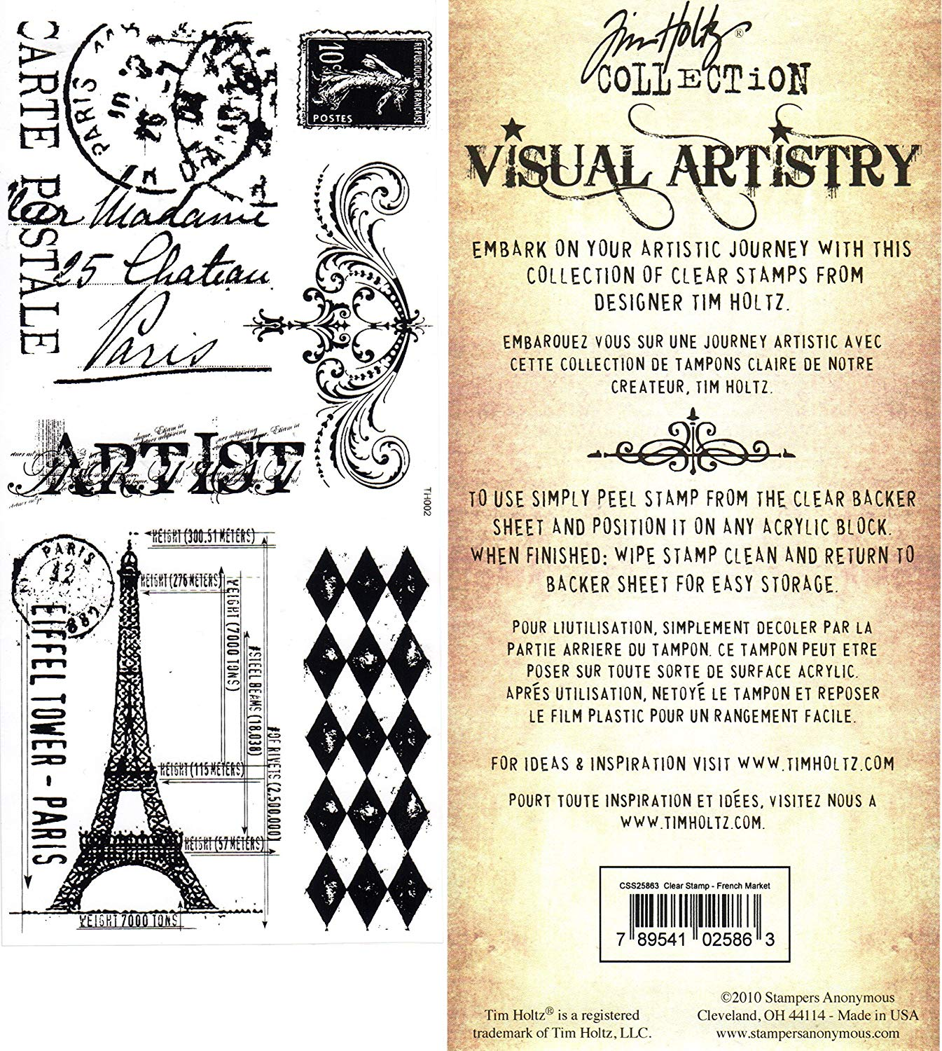 Stampers Anonymous' Tim Holtz Stamp Set - French Market