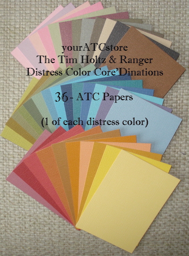 Core-dinations Tim Holtz Distress Color Cardstock ATCs - 36/Pk