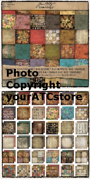 Tim Holtz Idea-ology Paper Stash - 12 x 12 Lost & Found w/ ATCs
