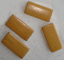 Bamboo Tile Beads - Natural Toffee Set of 12