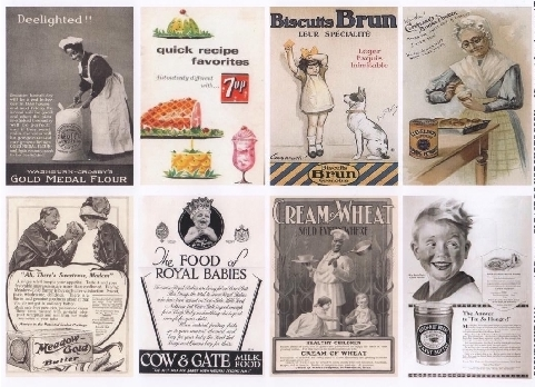 yourATCstore ATC Vintage Advertisement Background Collage Sheet