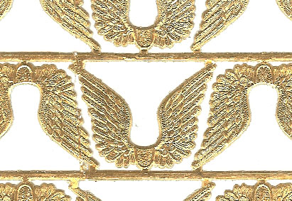 German Foil (Dresden) Paper - 12 Wings - Gold